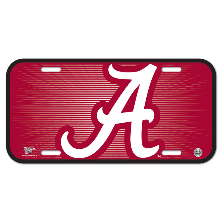 """Officially licensed 6""""x12"""" License Plates made of durable plastic. The plate is a great souvenir decorator piece. Made in USA. Made By Wincraft, Inc."""