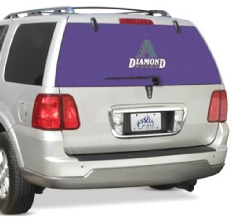 """Customize your vehicle with our revolutionary window film!  The innovative, perforated material allows for a clear, unobstructed view when looking out the window.  The adhesive film works on all vehicles and can be used on all glass surfaces.  It's quick and easy to install with no trimming or cutting required.  Exterior application only.  Approximately 12""""x10"""" in size. Made By Fremont Die"""