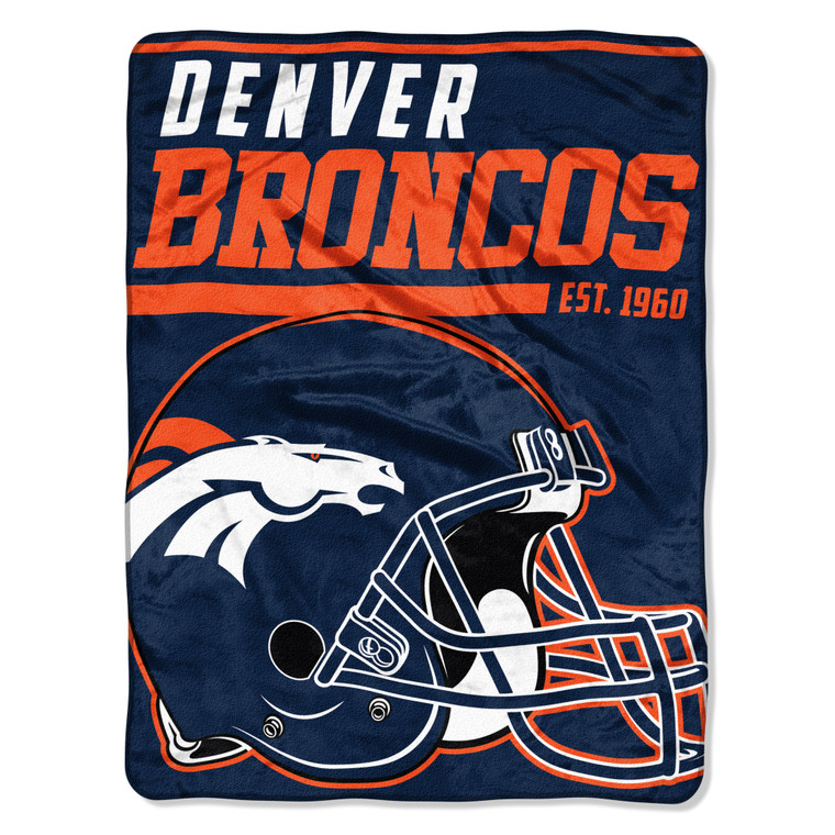 """These 46""""x60"""" throws are 100% polyester and are perfect for any die-hard football fan. The design features the team's logo printed big and bold against an attractive graphic background with decorative binding around the edges. This warm and plush throw is known for its rich saturated colors and exceptional durability and is machine washable! These blankets are packed rolled and feature a bellyband. They are packaged in case quantities of 6 but can be ordered individually. Made By Northwest Company"""