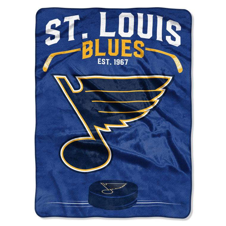 St. Louis Blues Blanket 60x80 Raschel Inspired Design Special Order