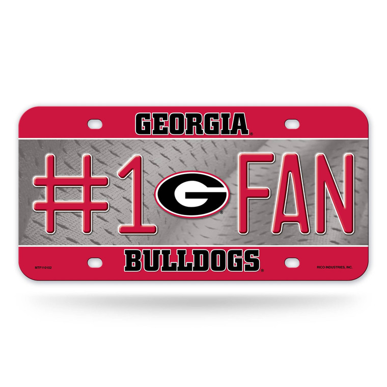 """Show off your team spirit with this aluminum license plate! They are 1/16"""" thick and 6""""x12"""" in size. These are great for the car, or even to display at home or the office. They feature bright, vibrant colors that will catch anyone's eye!. Made By Rico Industries"""