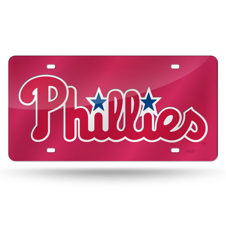 This 6x12 license plate is a must have for any fan! The team logo is laser cut onto a durable mirrored acrylic license plate. Great for displaying on your car or in your sports room! Made By Rico Industries.