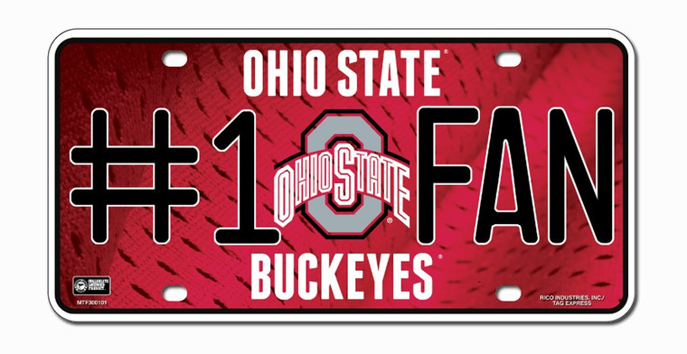 "Show off your team spirit with this aluminum license plate! They are 1/16"" thick and 6""x12"" in size. These are great for the car, or even to display at home or the office. They feature bright, vibrant colors that will catch anyone's eye! Made By Rico Industries."