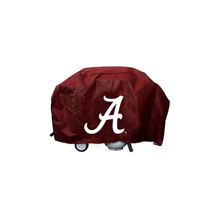 Show your favorite team and protect your barbeque grill at the same time! The cover is made of .10 mil thick heavy duty vinyl and features your favorite team's logo. Will fit most grills up to 68 inches wide, 35 inches high and 21 inches deep. There is a hook and loop velcro closure at the bottom for a secure fit. Made by Rico Industries.