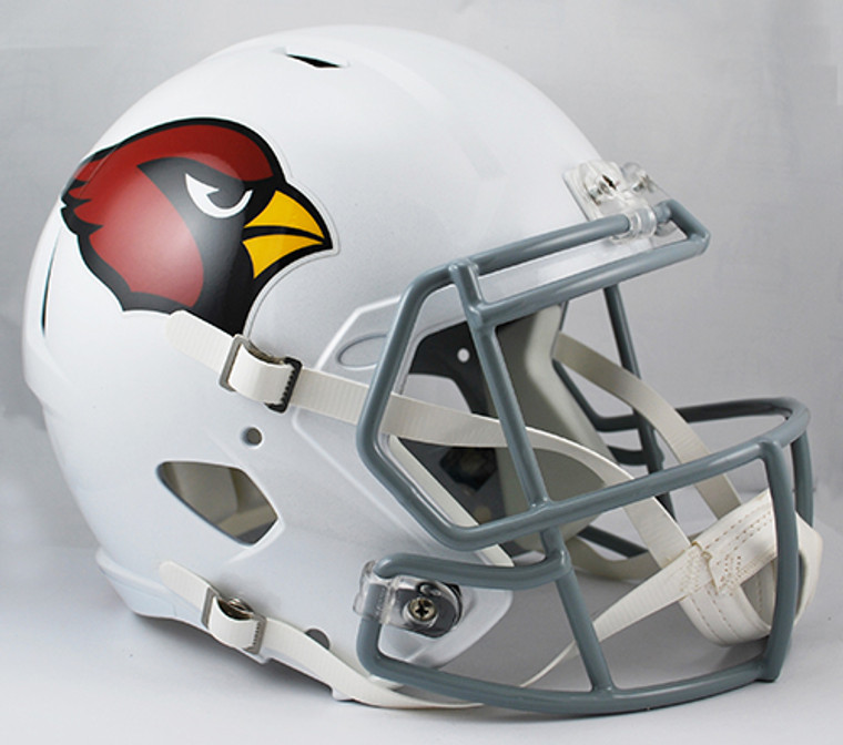 These helmets are slightly smaller than the Collegiate Authentic helmet. This deluxe helmet comes with decorative internal padding, a polyvinyl-coated steel facemask and a 2-point chin strap. This is perfect for a display piece! Made By Riddell