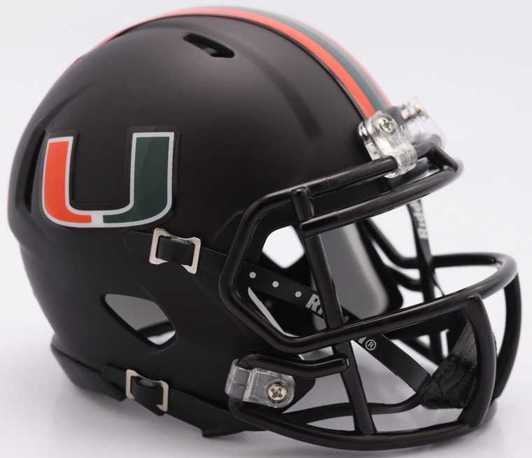 Miami Hurricanes Helmet Riddell Replica Mini Speed Style Miami Nights Design