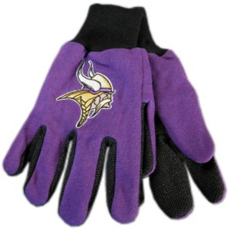 Comfort and style meet with these gloves, featuring the colors and logos of your favorite NFL team. These gloves are constructed of heavyweight cotton twill with rubber grips on the palms. Not only will these gloves keep your hands warm during the cold winter months, but can also be used to keep your hands clean while doing yard and garden work. Made by McArthur Sports. Made By Wincraft, Inc.