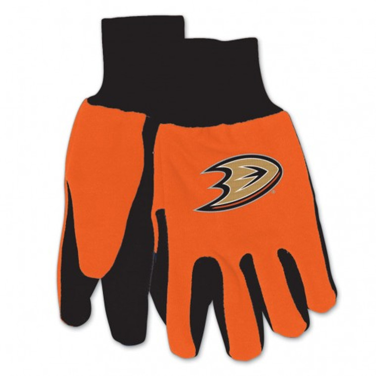 Comfort and style meet with these gloves, featuring the colors and logos of your favorite Collegiate team. These gloves are constructed of heavyweight cotton twill with rubber grips on the palms. Not only will these gloves keep your hands warm during the cold winter months, but can also be used to keep your hands clean while doing yard and garden work. Made by McArthur Sports. Made By McArthur