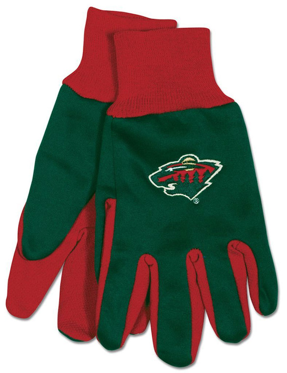 Comfort and style meet with these gloves, featuring the colors and logos of your favorite NBA team. These gloves are constructed of heavyweight cotton twill with rubber grips on the palms.  Not only will these gloves keep your hands warm during the cold winter months, but can also be used to keep your hands clean while doing yard & garden work.  Made by McArthur Sports. Made By McArthur