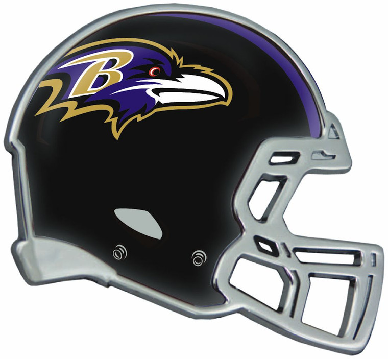 """This 3.2""""x 3"""" Helmet Shaped Auto Emblem is made from heavy metal and triple chrome plated for a long lasting great look. It features a full-color domed insert highlighting your NFL team's helmet! Made to last for years. Comes with easy to use peel and stick foam adhesive (which is strong and shaped to match the design; not strips). Officially Licensed Product exclusively by Stockdale. USA decorated. Made By Stockdale Technologies"""