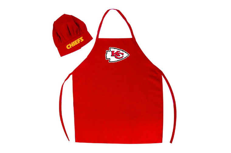 Even if you can't cook, you will look like a pro in this officially licensed chef's hat and apron. The hat features an adjustable band for a comfortable fit. The apron features a tie back closure, that fits most adults.  Made by Pro Specialties Group Inc.