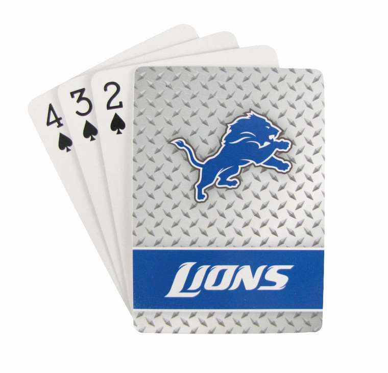 "Each playing card deck features officially licensed team logos on one side and standard numeric and face cards on the other. Each card deck is standard size, 3.5""x2.5"" and includes all 52 cards and 2 Jokers. Suitable for all card games. Made By Pro Specialties Group"