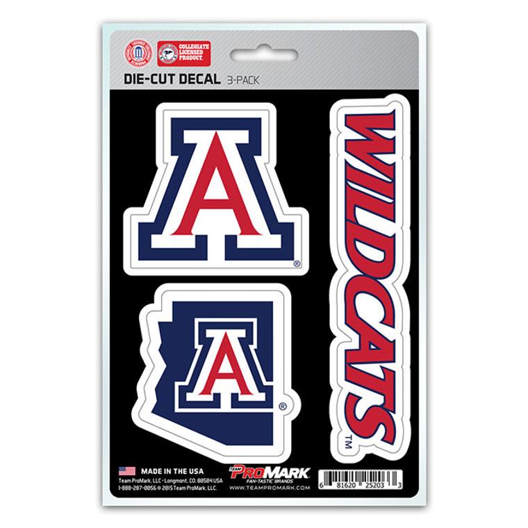 Arizona Wildcats Decal Die Cut Team 3 Pack