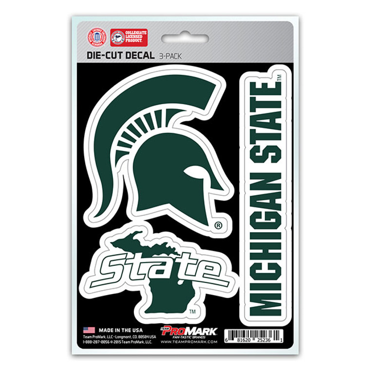 Includes 3 adhesive decals. Decals are die-cut and made of premium clear vinyl material. UV resistant lamination for outstanding durability. Made in the USA by Team Promark.