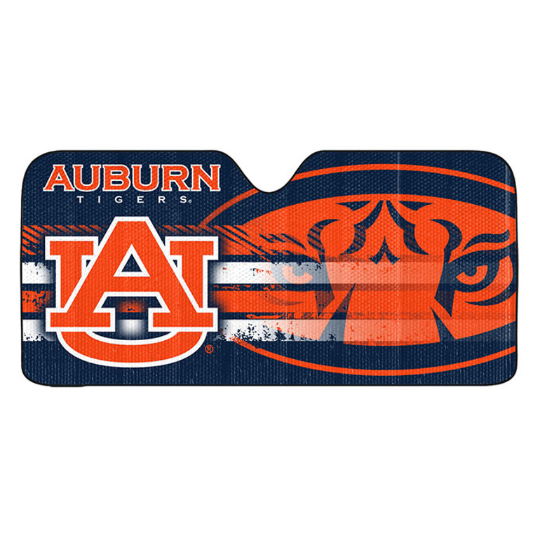 Made with high quality reflective material. Accordion fold for easy storage. Reflects the suns rays to protect your cars interior. Blocks 99% of UV-A and UV-B rays. Great way to cool your car while showing off your team pride. Made By Team Promark