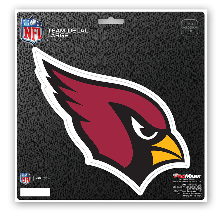 Premium die cut viyl decal features full color team logo. UV resistant lamination for outstanding durability.  Made by Team Promark.
