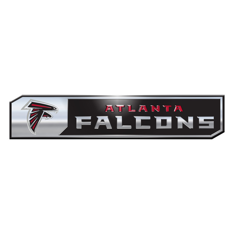 """This full-color emblem, rectangular in shape with unique angles, is designed to complement truck and car manufacturer badges. Fits perfectly on the fenders or the rear of any vehicle. Approximate measurement 8"""" x 1.5"""" x .25"""". Officially licensed. Made by Team Promark."""