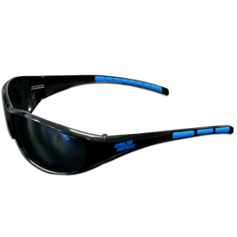 Protect your eyes while showing your team spirit with these great team sunglasses! The sunglasses are made of plastic, and features the screen printed team logo on both sides of the arms. The sunglass arms also feature rubber team colored accents. These sunglasses block UVA and UVB rays with UV 400 protection. Made By Siskiyou
