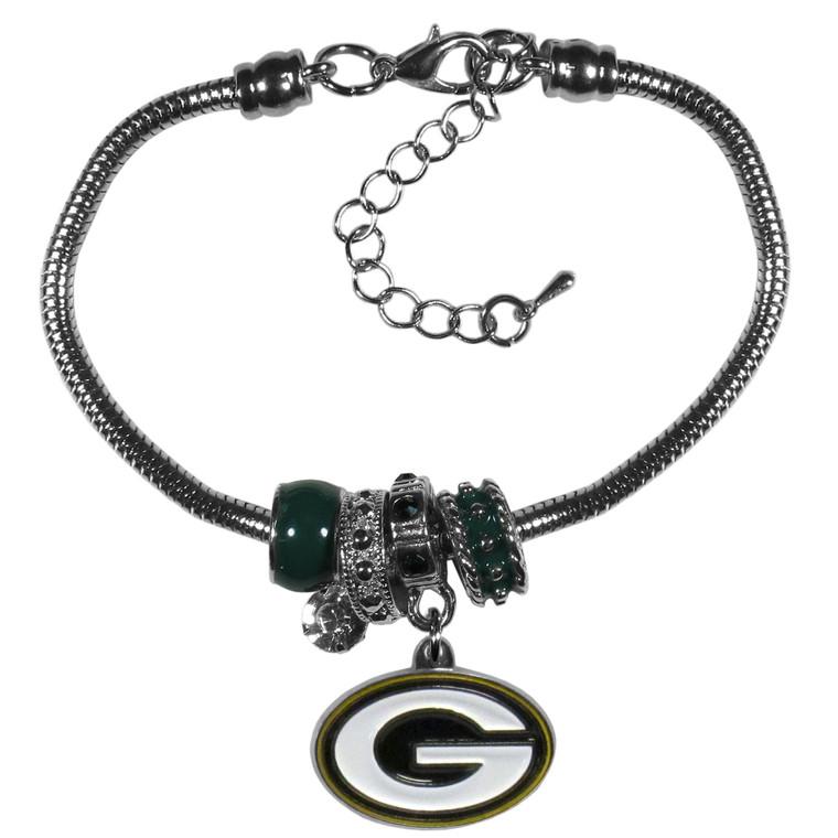 Green Bay Packers Bracelet Euro Bead Style