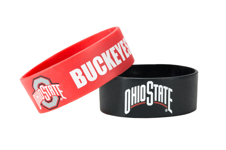 Show off your team spirit with this two pack of wide bracelets. Featuring team colors and logos, everyone will know where your loyalties lie while wearing these bracelets.Officially Licensed. Made by Aminco.
