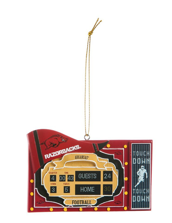 Show your love for your team with this charming, hand painted Christmas ornament. Made from sculpted polystone. Hand painted with intricate details. Comes ready to hand with attached cord. Gift tag feature on the back. Measures approximately 2.25x0.5x3.75 inches. Made by Evergreen.