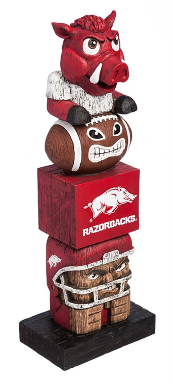 """Everyone will want to add this decorative tiki totem to their garden or gameday decor! Inspired by the original Hawaiian style tiki totems, this polystone handpainted sports themed totem shows your team spirit in every element. From the mascot top to the player base and everything in between, we're sure to have your friends and neighbors begging to know just where you got this unique product! Approximately 16"""" tall. Made by Evergreen Enterprises."""