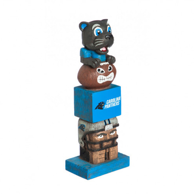 Everyone will want to add this decorative tiki totem to their garden or gameday decor! Inspired by the original Hawaiian style tiki totems, this polystone handpainted sports themed totem shows your team spirit in every element. From the mascot top to the player base and everything in between, it is sure to have your friends and neighbors begging to know just where you got this unique product! Approximately 16 inches tall. Made by Evergreen Enterprises.