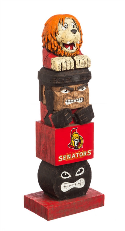 """Everyone will want to add this decorative tiki totem to their garden or gameday decor! Inspired by the original Hawaiian style tiki totems, this polystone handpainted sports themed totem shows your team spirit in every element. From the mascot top to the player base and everything in between, your friends and neighbors will be begging to know just where you got this unique product! Approximately 16"""" tall. Made by Evergreen Enterprises."""