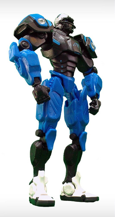 """The era of Cleatus the FOX Sports Robot has begun! No mere action figure, the FOX Sports Robot is your official in-home mascot! Each 10"""" posable robot is made of extra-sturdy PVC plastic and features the highest attention to detail. With fully articulating joints, Cleatus can be posed in almost any defensive or offensive position, tackling the opposition or celebrating a field goal. A must-have for every fan, these Robots are the perfect way to let everyone know who you root for! Show your team pride from your desk at work, next to the big screen at home, or as part of your team collection. Made By Foamfanatics"""