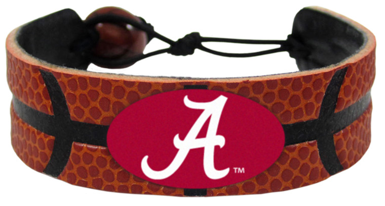 Alabama Crimson Tide Bracelet Classic Basketball A Logo Alternate
