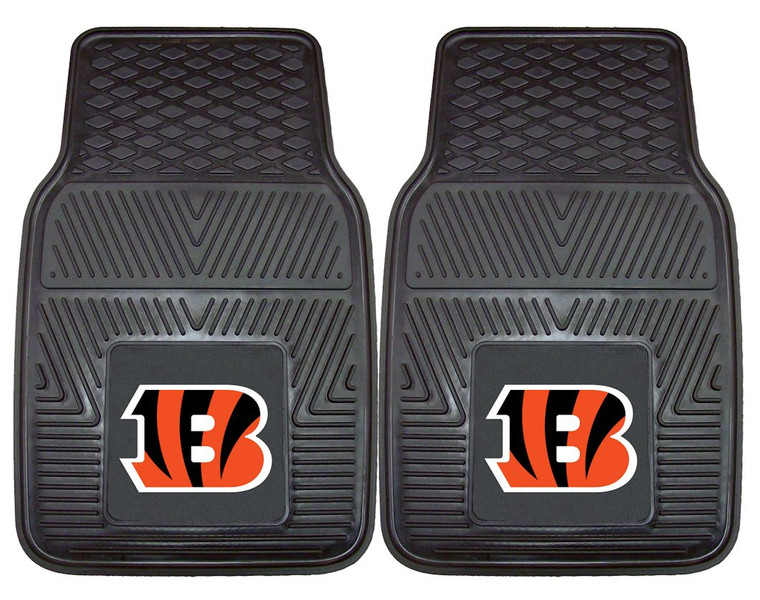 <span>Protect your vehicle's flooring while showing your NFL team pride with this pair of car mats by FANMATS. 100% vinyl construction with non-skid backing ensures a rugged and safe product. Universal fit makes it ideal for most cars, trucks, SUVs, and RVs. Made by FanMats.</span>