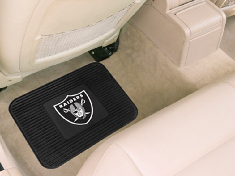 """Boast your team colors with utility mats by FANMATS. High quality and durable rubber construction with your favorite team's logo permanently molded in the center.  Non-skid backing ensures a rugged and safe product.  Due to its versatile design utility mats can be used as automotive rear floor mats for cars, trucks, SUVs or workbench mats. 14"""" x 17"""". Made By Fanmats"""