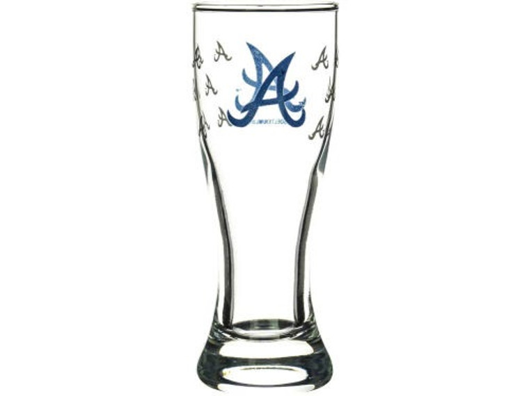 """Here is another great shot glass to add to your collection, or to use during games! The mini pilsner shot glass is decorated with color team logo and satin etch repeated pattern. The shot glass is almost 4.5"""" tall, and holds 2.5 ounces of liquid. **We ask that Mini Pilsner Shot Glasses be ordered in quantities of 12, but you may mix and match teams. Made By Boelter Brands"""