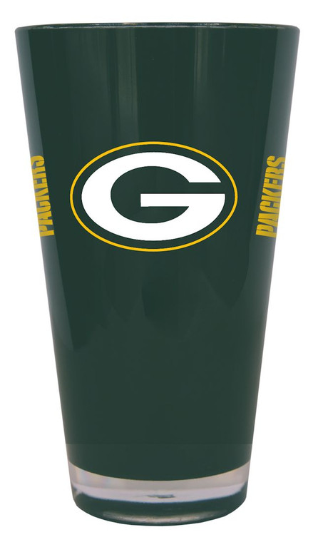 The 20 ounce double-walled, insulated plastic pint glass is BPA free, reusable and highly durable. It's decorated with colorful team graphics. Made By Boelter Brands