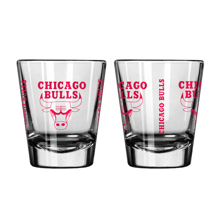 A staple for any sports display! This set of 2 comes in a clam shell and features color team logo. Perfect for everything from pre-season drinks to championship cheers. Made by Boelter Brands.
