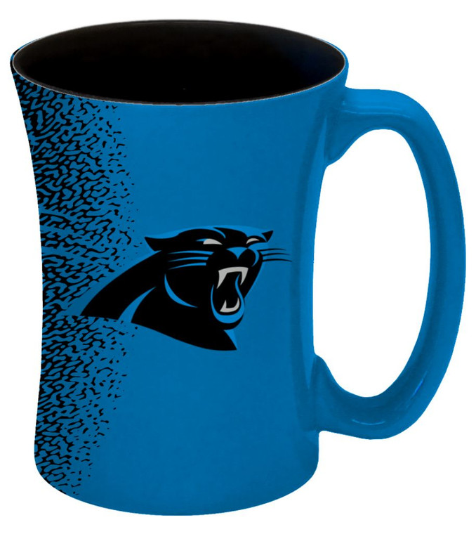 14 ounce sculpted ceramic mug decorated with bright and colorful team graphics and colors. Made By Boelter Brands