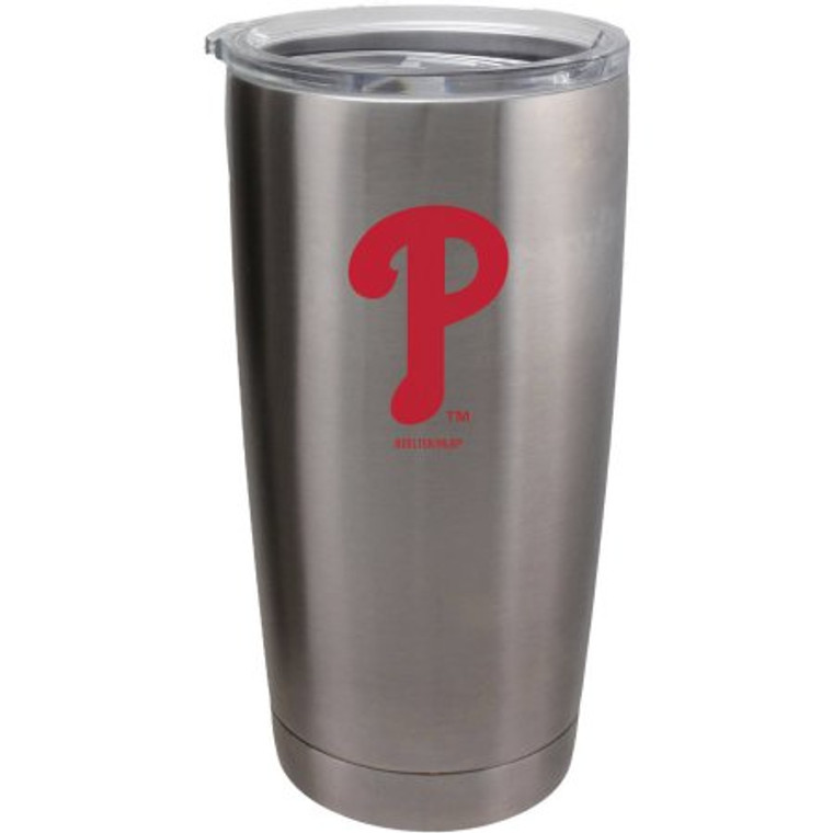A 20 oz ultra tumbler with 18/8 stainless steel body with double-wall, vacuum insulated construction and slider top lid. Decorated with colorful team logo. Actual color may vary. Made by Boelter Brands