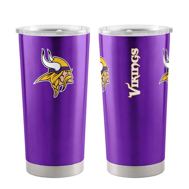 A 20 oz ultra tumbler with 18/8 stainless steel body with double-wall, vacuum insulated construction and slider top lid. Decorated with colorful team logo. Made by Boelter Brands