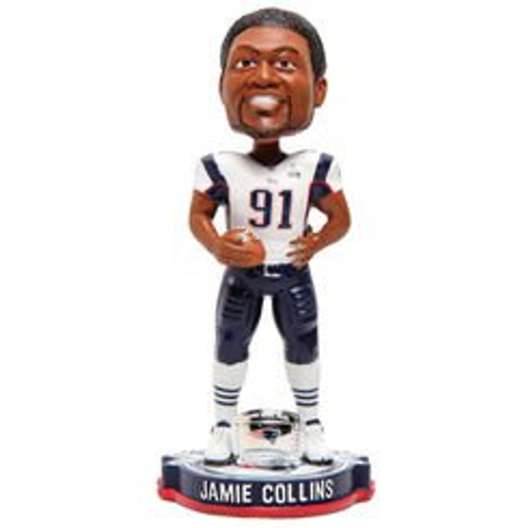New England Patriots Jamie Collins Forever Collectibles Super Bowl 49 Champ Bobblehead