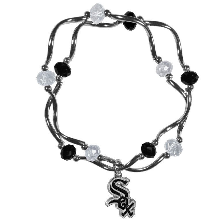 Chicago White Sox Bracelet Colored Bead CO