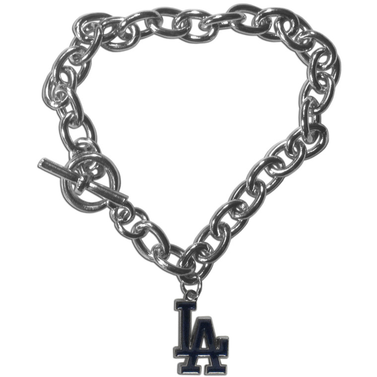 Los Angeles Dodgers Bracelet Chain Link Style CO