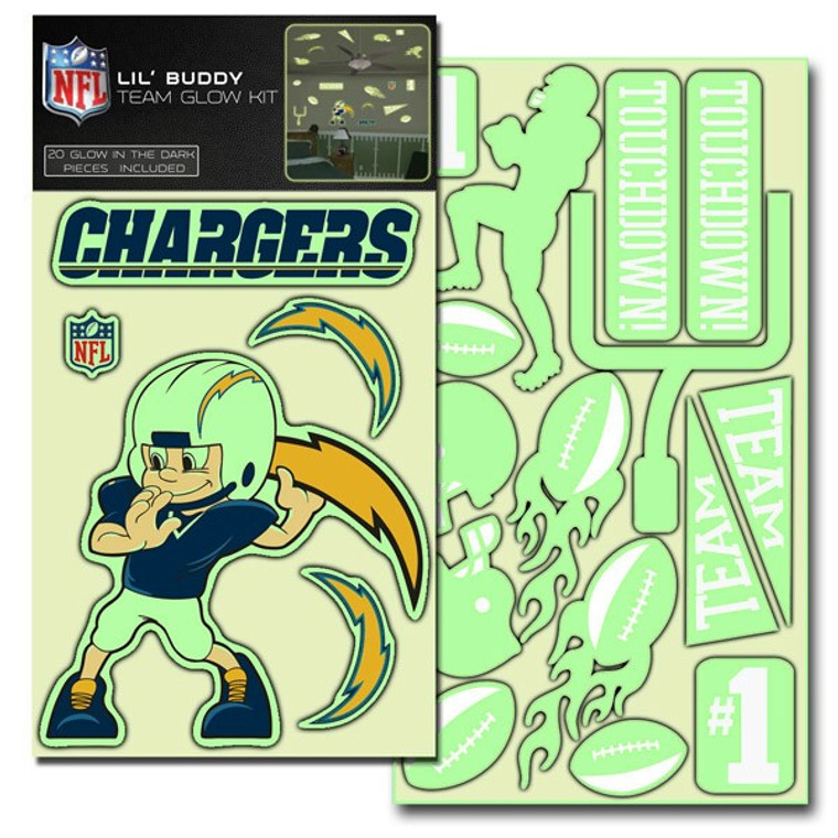 San Diego Chargers Decal Lil Buddy Glow in the Dark Kit CO