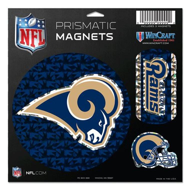 St. Louis Rams Magnets 11x11 Die Cut Prismatic Set of 3 Special Order