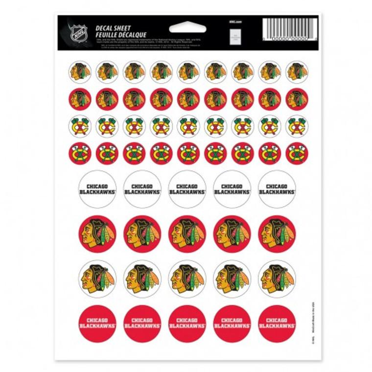 Chicago Blackhawks Decal 5x7 Vinyl Sticker Sheet Mini Decals