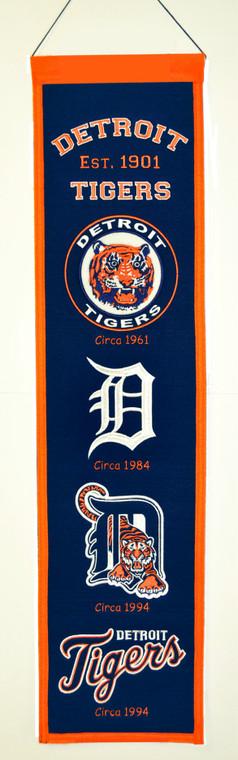 Detroit Tigers Banner 8x32 Wool Heritage