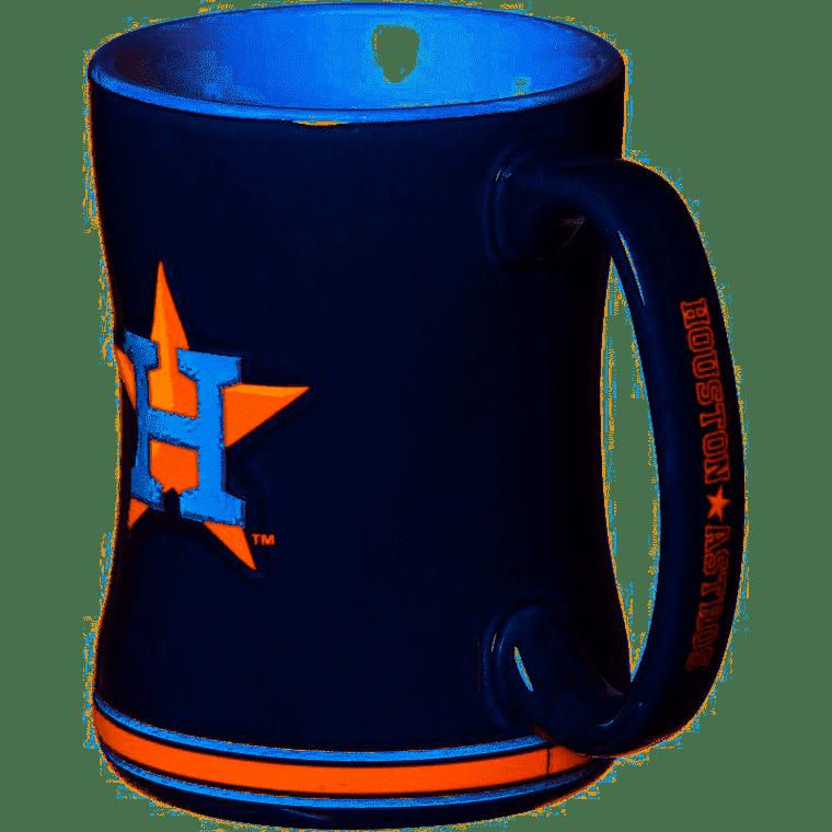 Houston Astros Coffee Mug 14oz Sculpted Relief