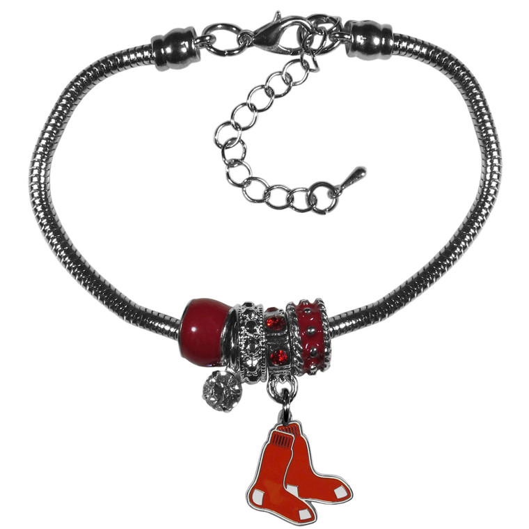 Boston Red Sox Bracelet Euro Bead Style CO