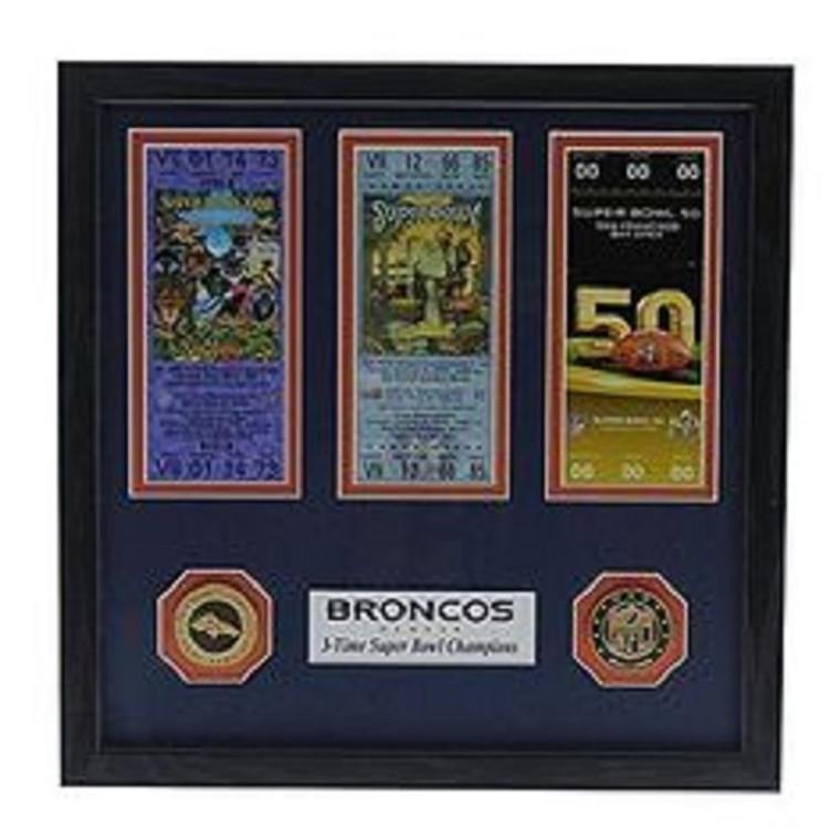 Denver Broncos 3-Time Super Bowl Champions Ticket Collection