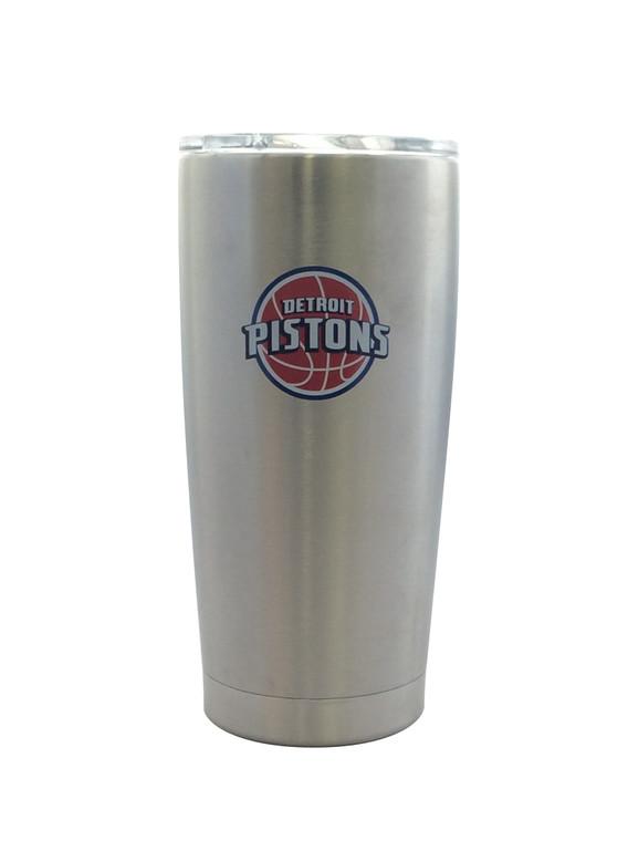 Detroit Pistons Travel Tumbler 20oz Ultra Flared Silver