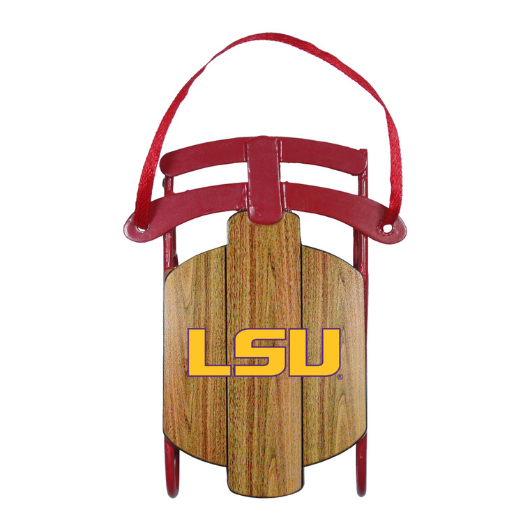 LSU Tigers Ornament Metal Sled